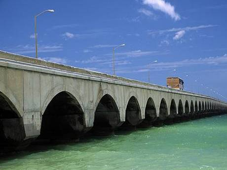 part of Progresso Pier in Mexico